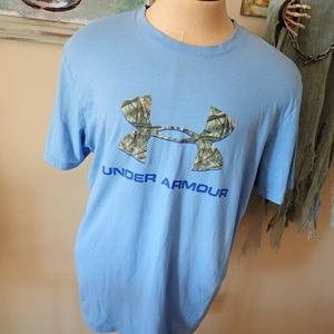 Under Armour Charged Cotton Camo Logo T-Shirt Mens